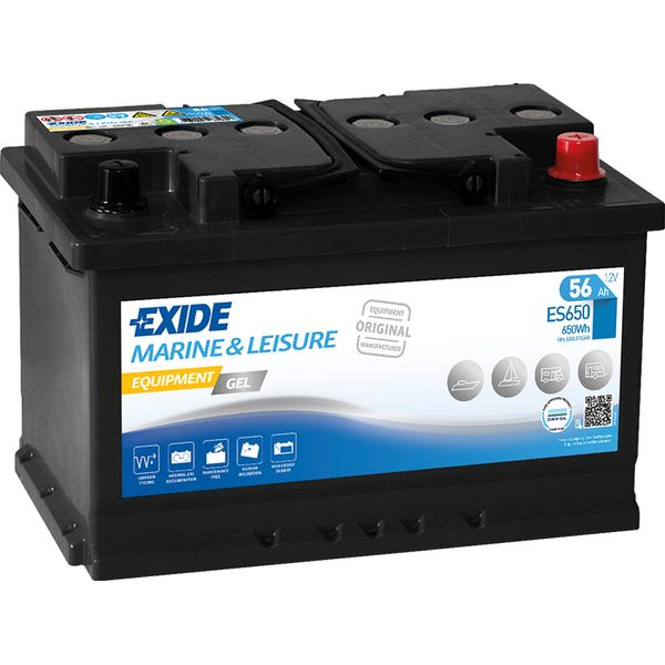 Akumulator 12V 56Ah +D Exide equipment gel es650