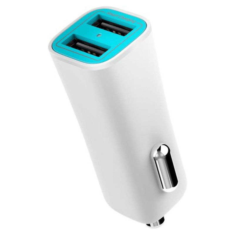 Iluv charger usb-2 portsmartcar white