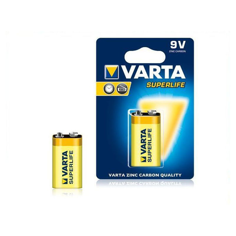 Baterija 9V VARTA SuperLIFE 6F22